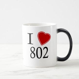 I Love 802 Burlington Magic Mug
