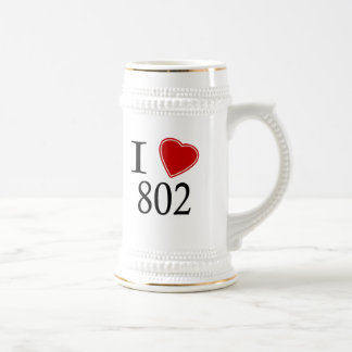 I Love 802 Montpelier Coffee Mugs