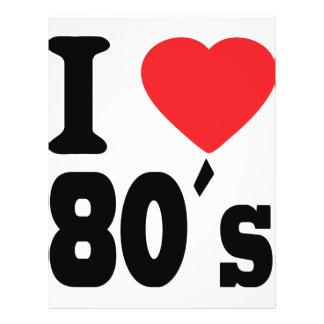 "I Love 80 ´s 8.5"" X 11"" Flyer"
