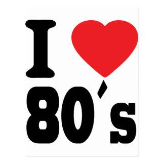 I Love 80 ´s Post Card