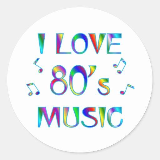 I Love 80s Classic Round Sticker