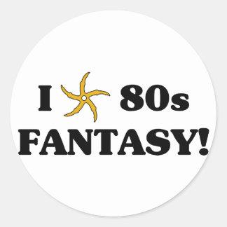 I Love 80s Fantasy Classic Round Sticker