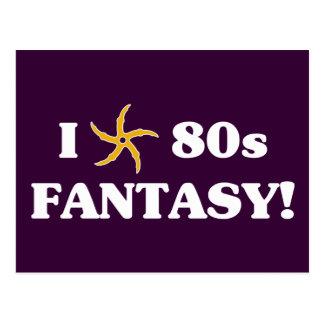 I Love 80s Fantasy Postcard