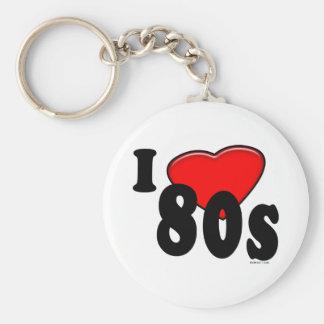 I Love 80s Keychain
