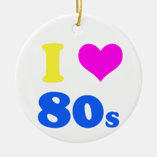 i love 80's ornaments