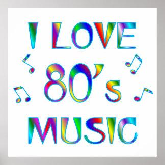 I Love 80's Poster