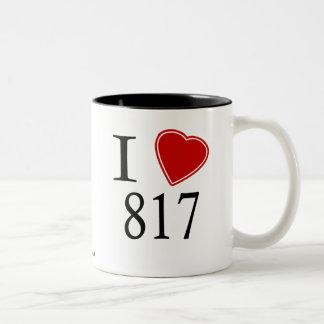 I Love 817 Arlington Two-Tone Coffee Mug
