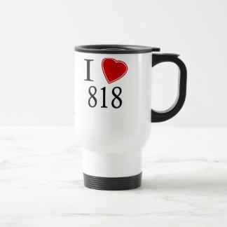 I Love 818 Los Angeles 15 Oz Stainless Steel Travel Mug