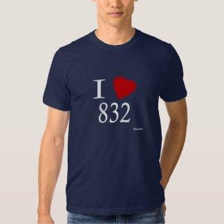 I Love 832 Houston T Shirt