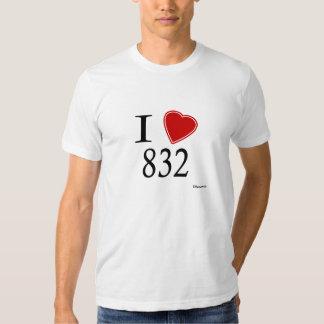 I Love 832 Houston Tee Shirt