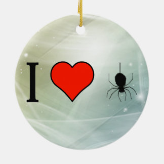 I Love 8 Legged Freaks Double-Sided Ceramic Round Christmas Ornament