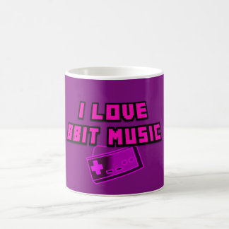 I Love 8bit Music Purple Controller Digital Art Coffee Mug