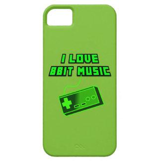 I Love 8bit Music Retro Digital Art Cartoon Style iPhone SE/5/5s Case