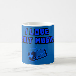 I Love 8Bit Music with Blue Controller Digital Art Coffee Mug