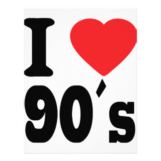 I Love 90 ´s Customized Letterhead