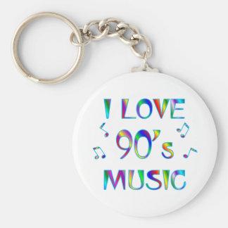 I Love 90's Basic Round Button Keychain