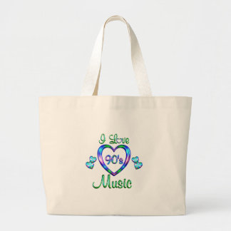 I Love 90s Music Canvas Bag