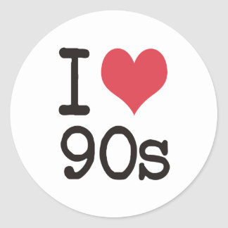 I Love 90s Products & Designs! Classic Round Sticker