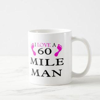 i love a 60 mile man 2 feet mugs