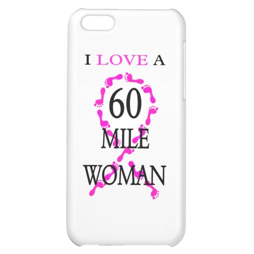 i love a 60 mile woman pink ribbon feet cover for iPhone 5C