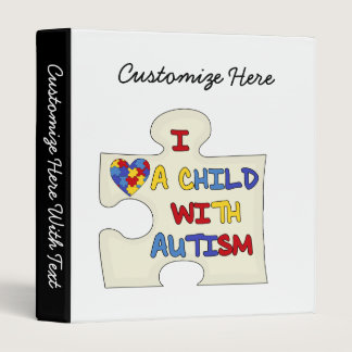 I Love a Child With Autism Binder