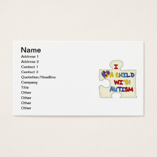 I Love a Child With Autism Business Card