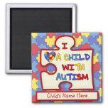 I Love a Child With Autism Fridge Magnet