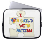 I Love a Child With Autism Laptop Sleeves