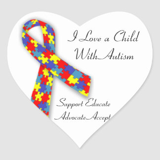 I love a child with Autism Sticker
