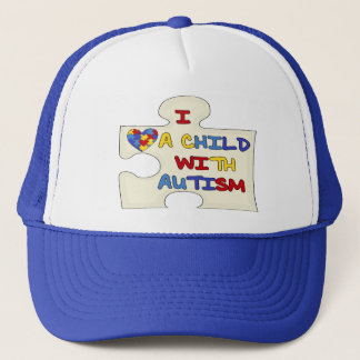 I Love A Child With Autism Trucker Hat