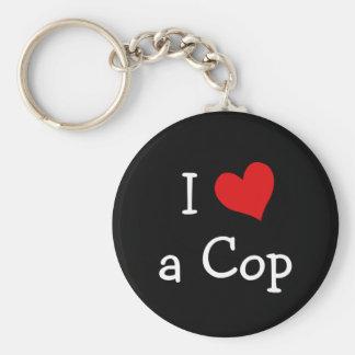 I Love a Cop Keychain
