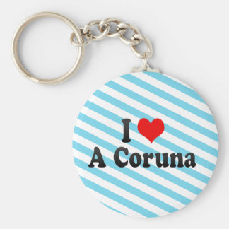 I Love A Coruna, Spain Keychain