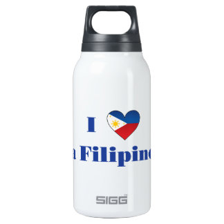 I Love A Filipino Insulated Water Bottle