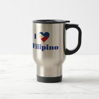 I Love A Filipino Travel Mug