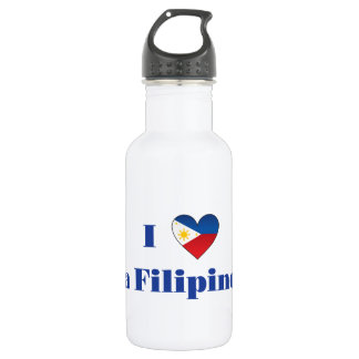 I Love A Filipino Water Bottle
