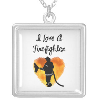I Love A Firefighter Necklaces