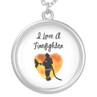 I Love A Firefighter Necklace