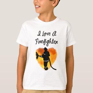 I Love A Firefighter T-Shirt