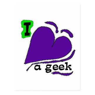 I Love a Geek Postcard