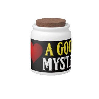 I Love A Good Mystery Candy Jar