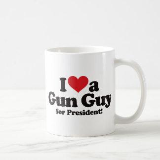 I Love a Gun Guy for President Coffee Mug