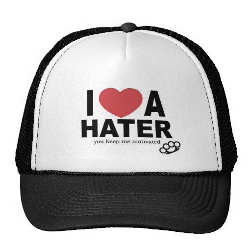 I LOVE A HATER MESH HATS