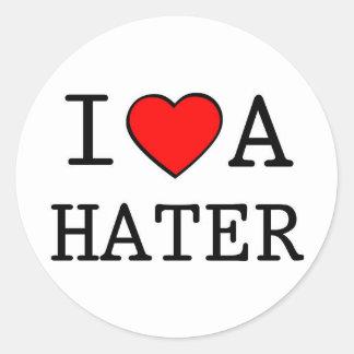 I LOVE A HATER CLASSIC ROUND STICKER