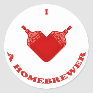 I Love a Homebrewer Classic Round Sticker