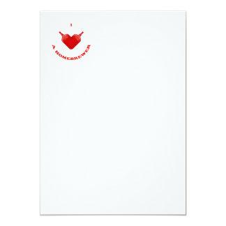 "I Love a Homebrewer 5"" X 7"" Invitation Card"