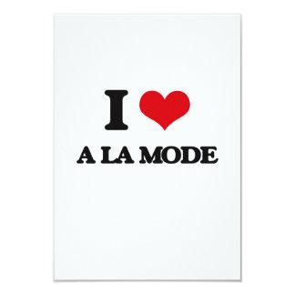 """I Love A La Mode 3.5"""" X 5"""" Invitation Card"""