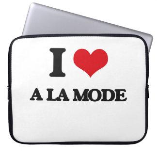 I Love A La Mode Computer Sleeves