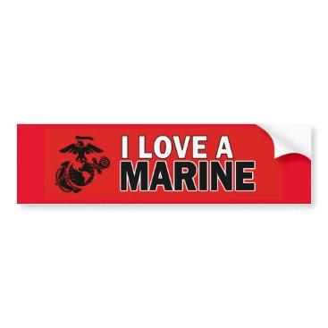 I Love a Marine Bumper Sticker
