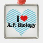 I Love A.P. Biology Ornament