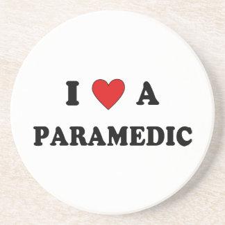 I Love A Paramedic Beverage Coaster